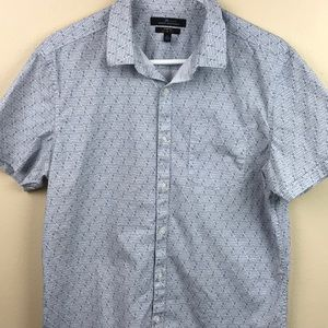 Marc Anthony Stretch Slim Fit Short Sleeve Button